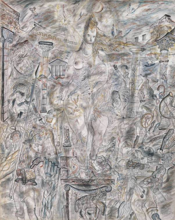Aphrodite in Aulis 1940-1 David Jones 1895-1974 Purchased 1976 http://www.tate.org.uk/art/work/T02036