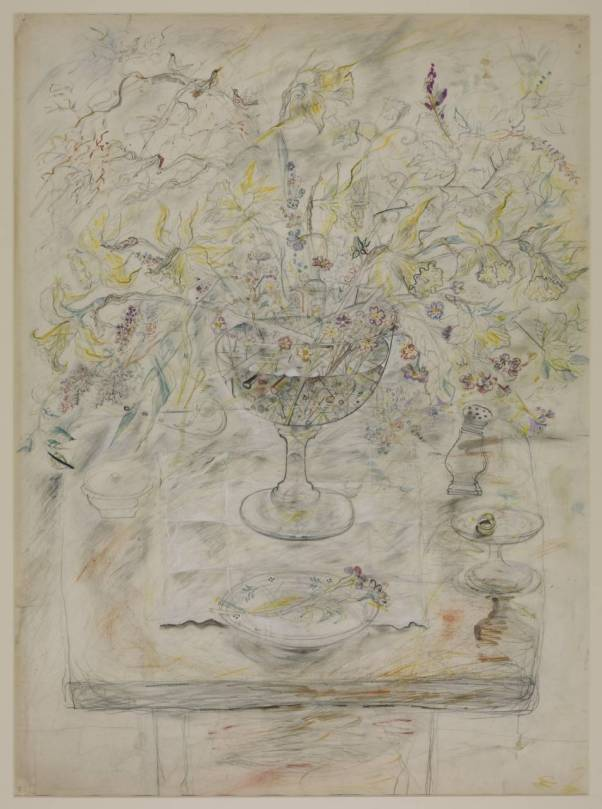 Chalice with Flowers and Pepperpot circa 1954-5 David Jones 1895-1974 Purchased 1976 http://www.tate.org.uk/art/work/T02038