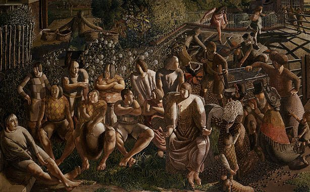 Artist : Sir Stanley Spencer (England, b.1891, d.1959) Title : Date : 1951-1952 Medium Description: oil on canvas Dimensions : Credit Line : Watson Bequest Fund 1952 Image Credit Line : Accession Number : 8702