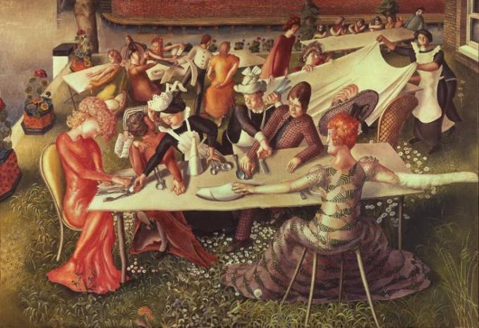 Dinner on the Hotel Lawn 1956-7 Sir Stanley Spencer 1891-1959 Presented by the Trustees of the Chantrey Bequest 1957 http://www.tate.org.uk/art/work/T00141