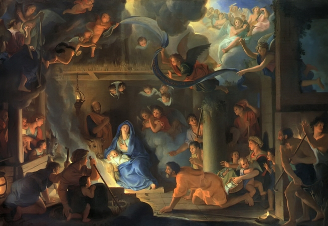 Adoration of the Shepherds by Charles Lebrun, 1689