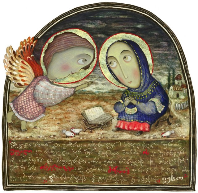 Annunciation by David Popiashvili