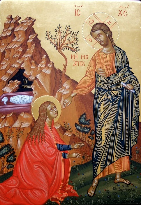 Magdalene and the Resurrected Lord, Byzantine icons and Western Art