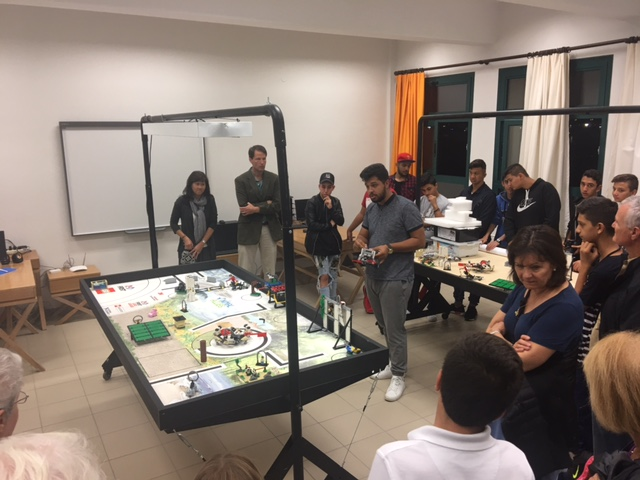 The robotics team provides an explanation of their work
