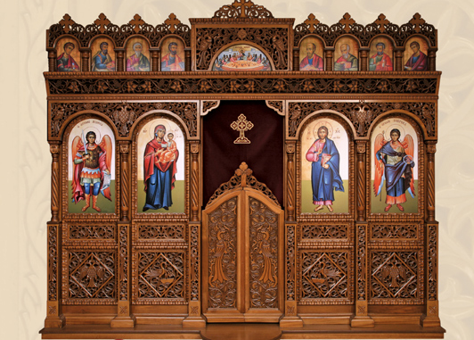 Christ Icon on Iconostasis