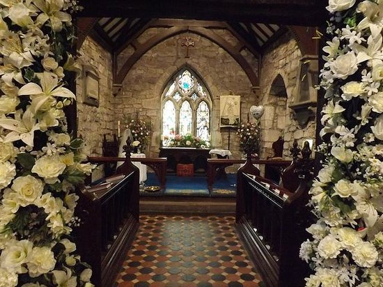 Inside st Peter's church heysham