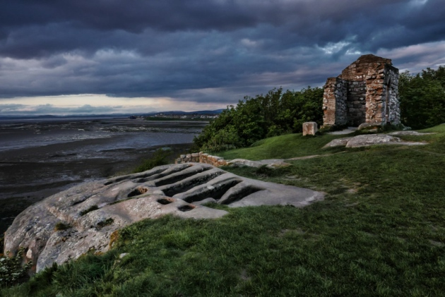 The ruins and rock-hewn graves of St. Patrick's Chapel, Heysham 2